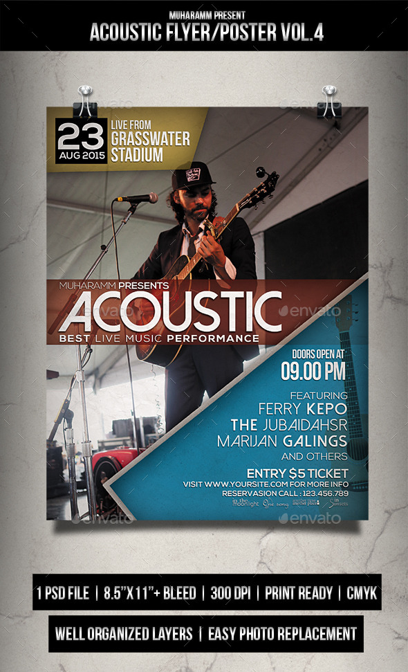 Acoustic Flyer / Poster Vol.4 - Events Flyers