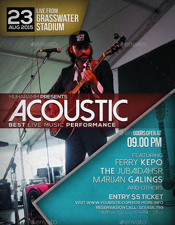 Acoustic Flyer / Poster Vol.4
