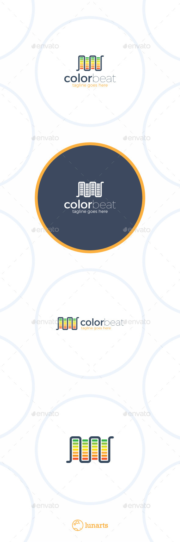 Audio Beat Logo Color Music