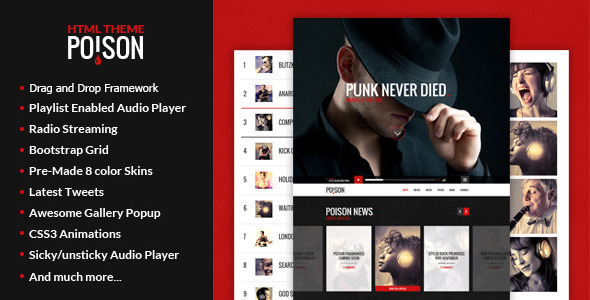 Poison – Music WordPress Theme