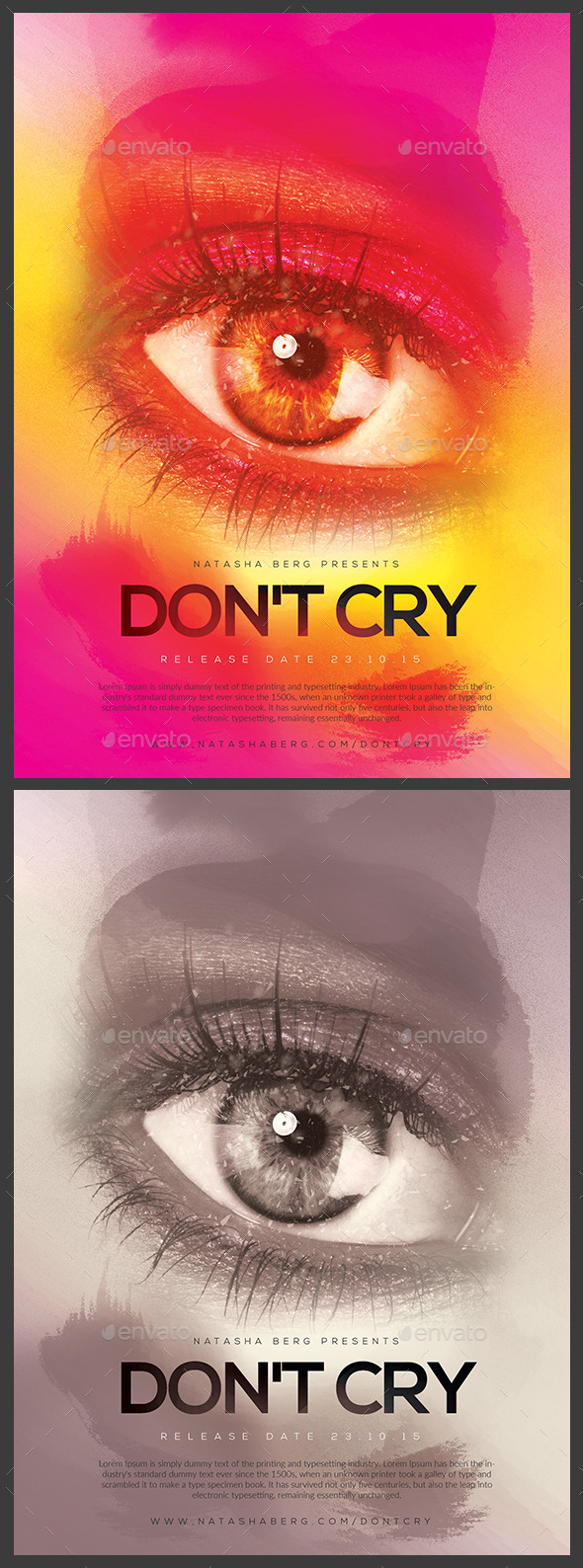 Dont Cry Flyer / Poster - Clubs & Parties Events