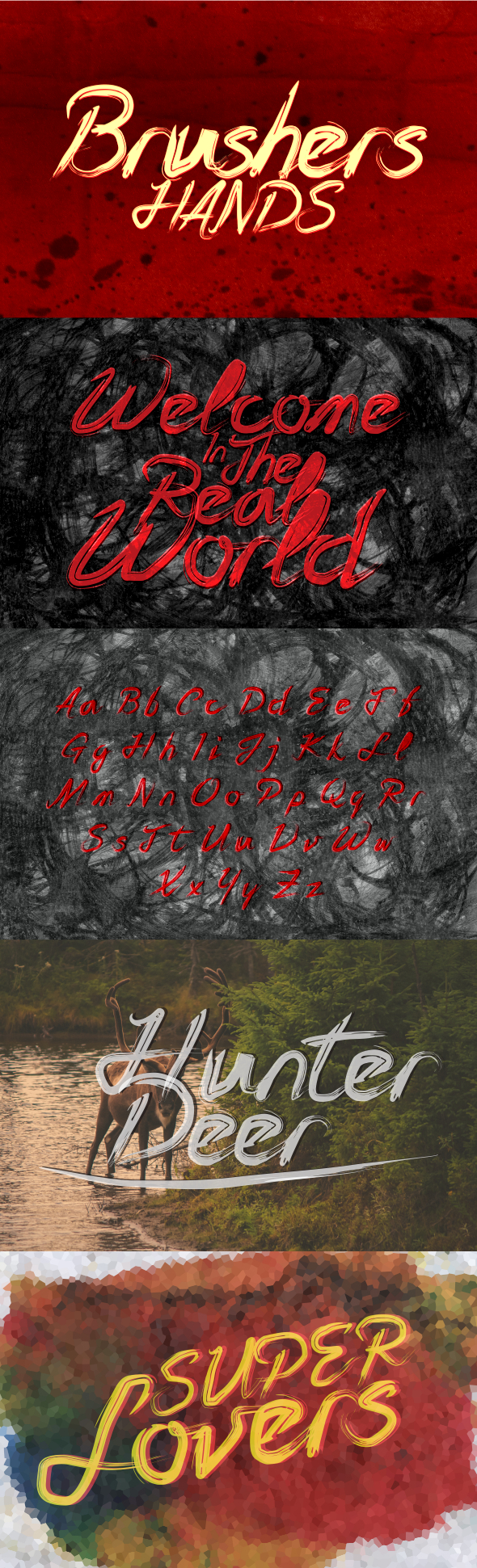 Brushers Hands - Script Fonts