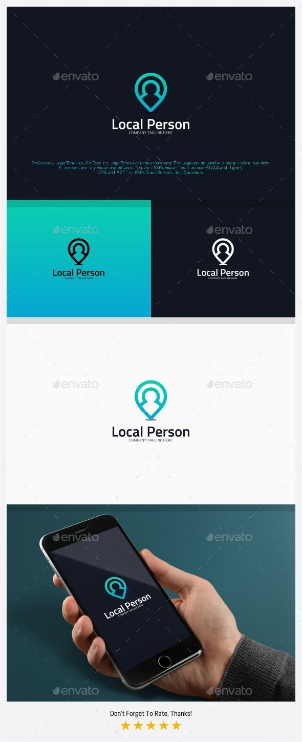 Local Person - Find People Logo - Humans Logo Templates
