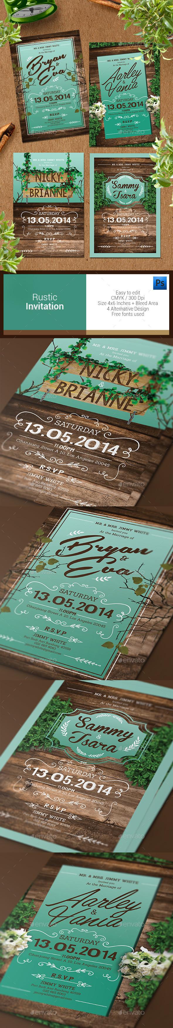 Rustic Invitation - Weddings Cards & Invites