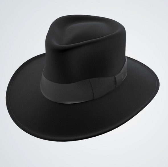 Jaxon Hat Fedora Black - 3DOcean Item for Sale