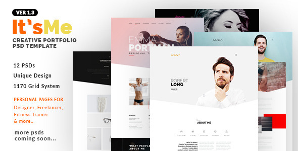 It'sMe - Creative Portfolio PSD Template - Portfolio Creative