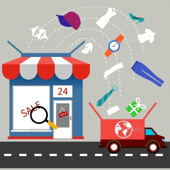 Store With Delivery Service - Services Commercial / Shopping