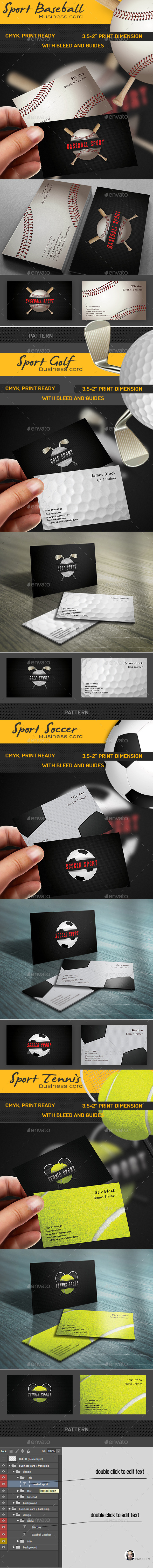 Sport Business Card Pack - Industry Specific Business Cards
