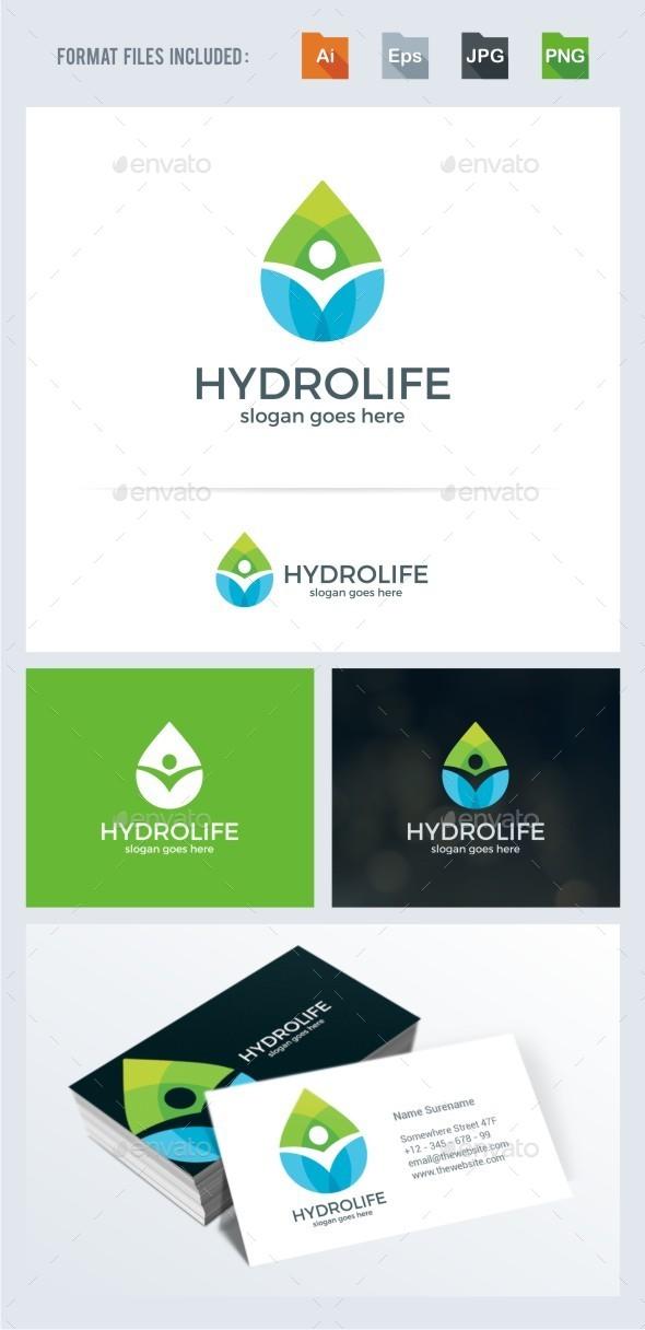 Hydro Life - Humans Logo Templates