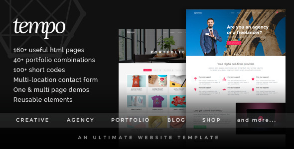 Tempo - An Ultimate Website Template