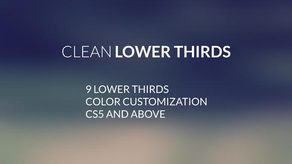 Clean LowerThirds