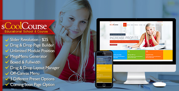 sCoolCourse - MultiPurpose Educational Template