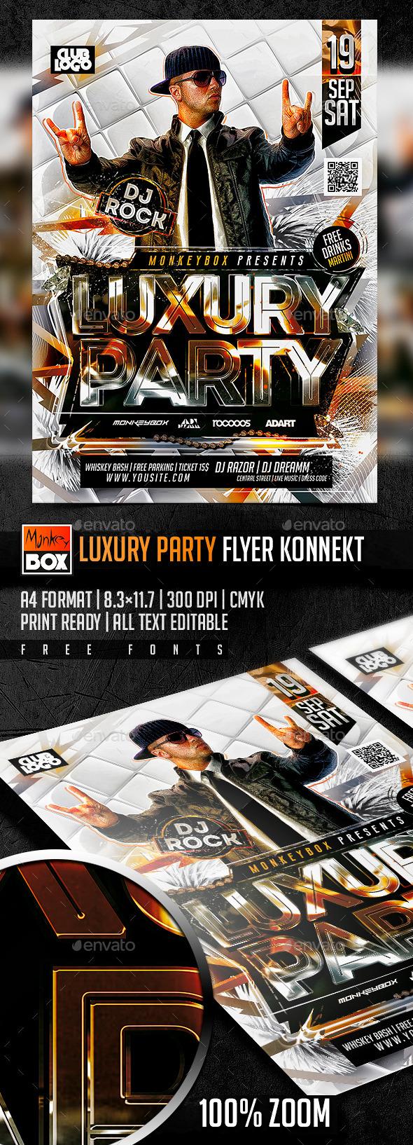 Luxury Party Flyer Konnekt - Flyers Print Templates