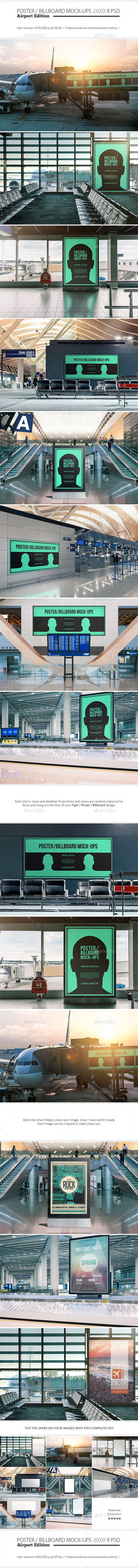 Poster Billboard Mock-ups Airport Edition