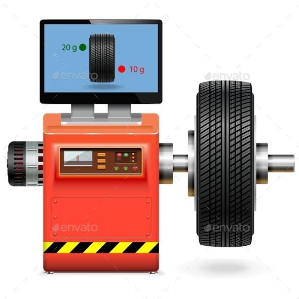 Vector Balancing Wheel Service - Industries Business