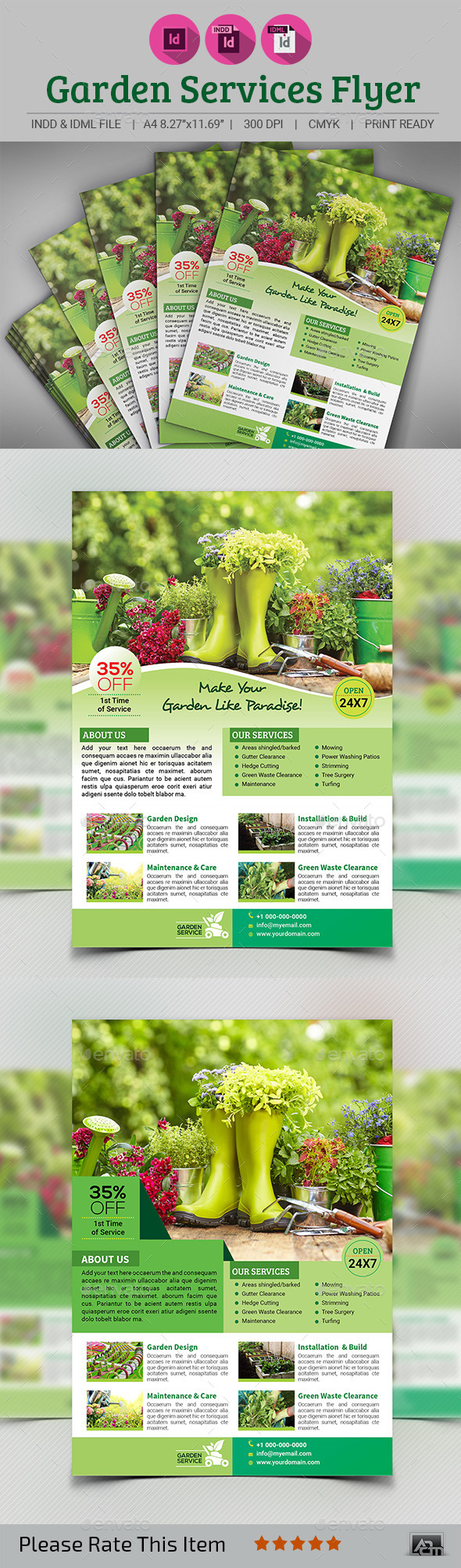 Garden Services Flyer - Corporate Flyers
