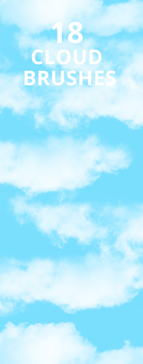 Sky Cloud Photoshop Brush Set - Miscellaneous Brushes