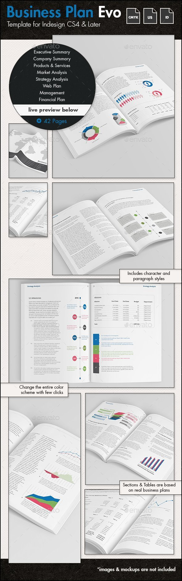 Business Plan Evolved - US Letter Template - Corporate Brochures
