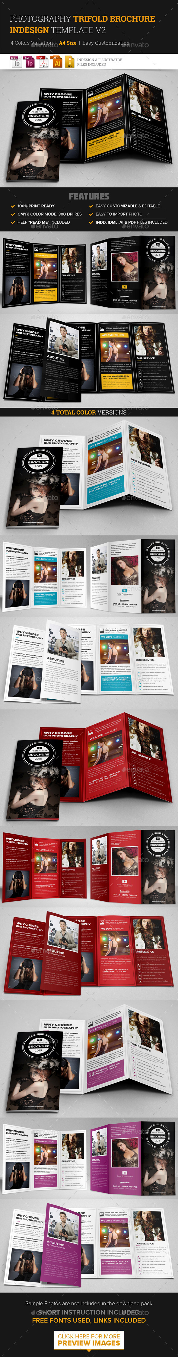 Photography Trifold Brochure Indesign Template v2  - Corporate Brochures