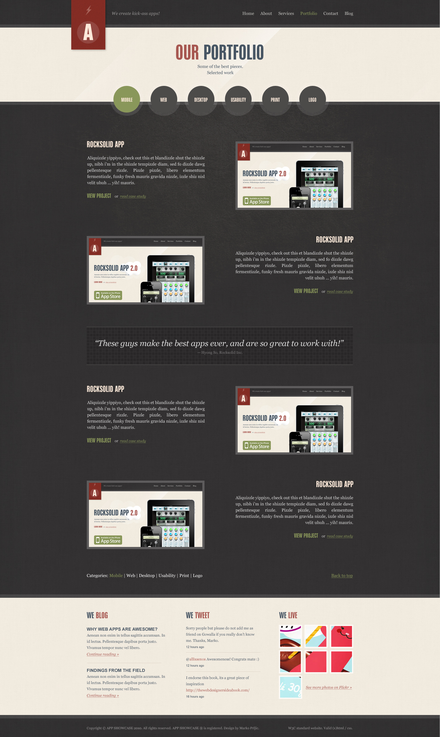 Rocksolid - App Showcase Agency - HTML by segen | ThemeForest