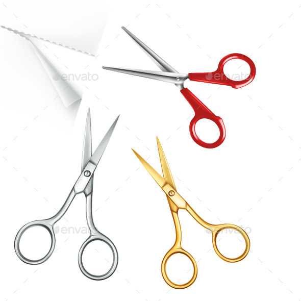 Multi Colored Scissors - Vectors