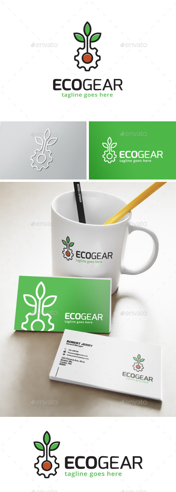 Eco Gear Green Logo - Nature Logo Templates