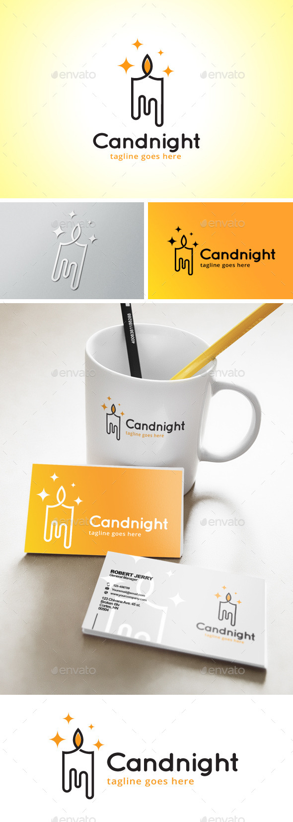 Candlelight Logo - Objects Logo Templates