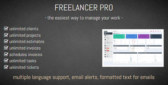 FREELANCER PRO- Manage Your Work, Manage Your Life - CodeCanyon Item for Sale