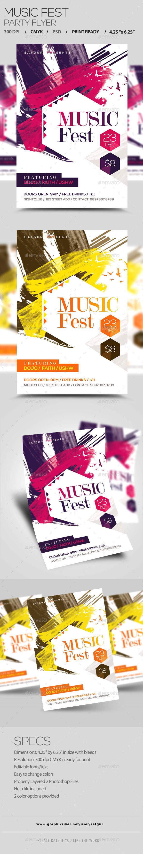 Music Fest Flyer - Clubs & Parties Events