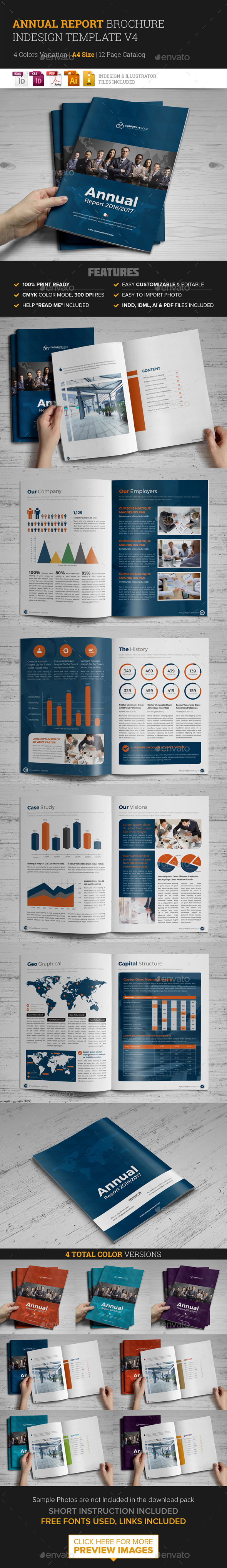 Annual Report Brochure Indesign Template 4  - Corporate Brochures