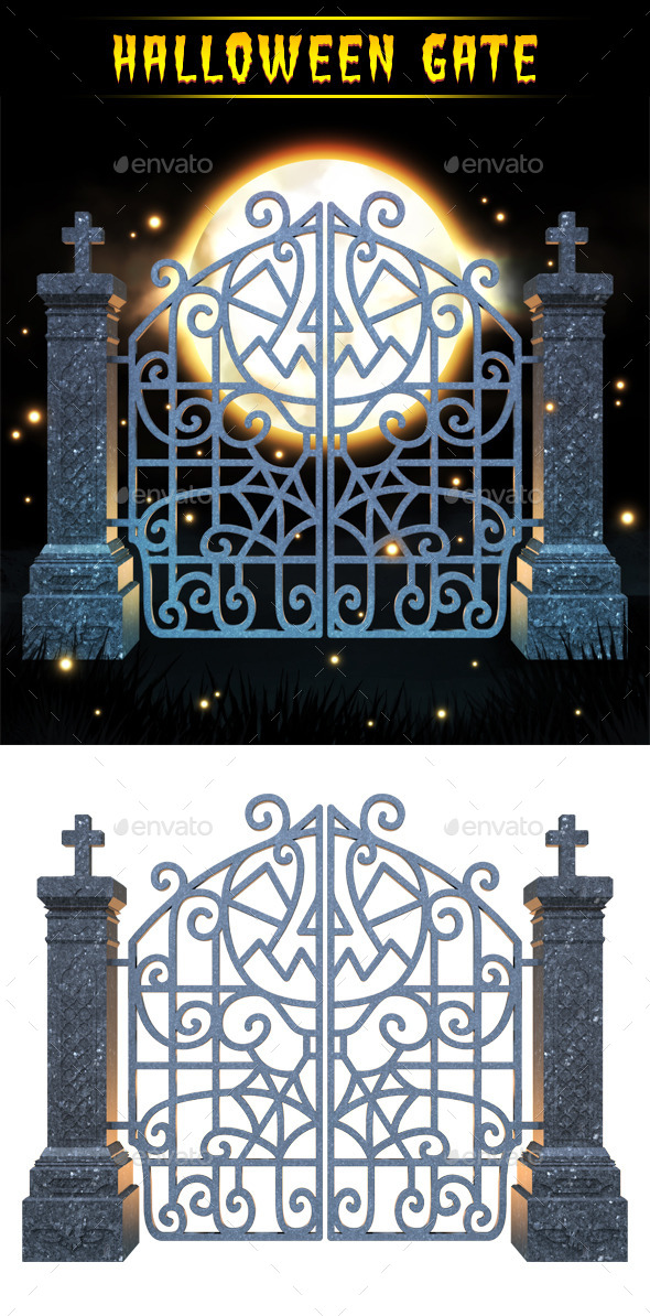 Halloween Gate 3D Render - Architecture 3D Renders