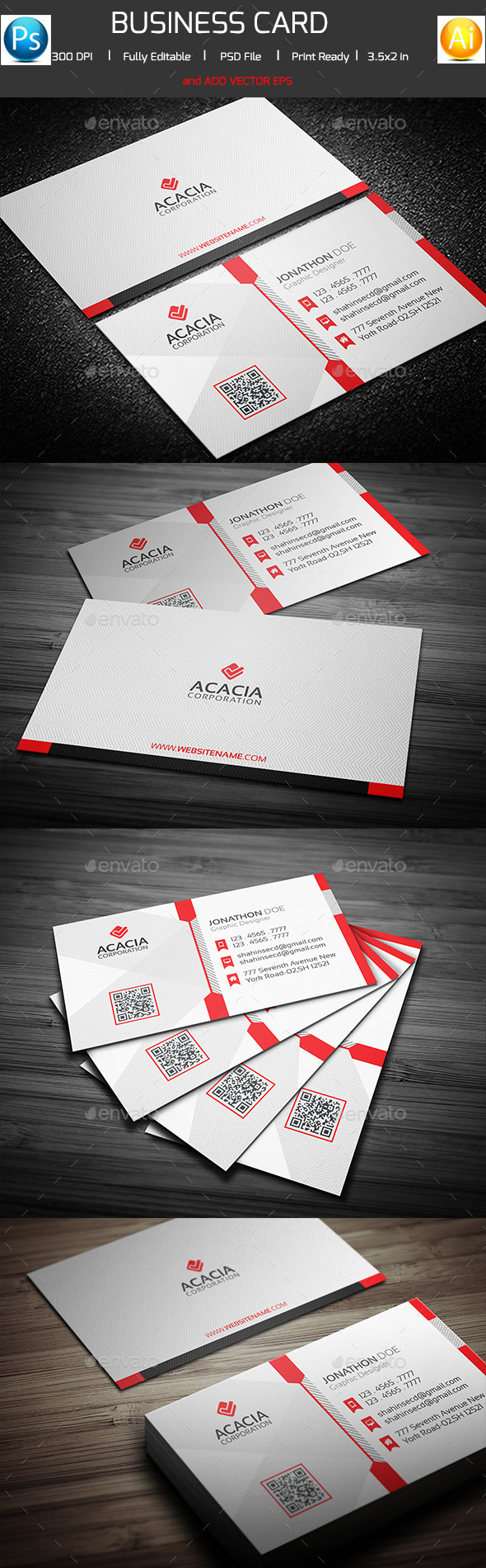 Corporate Business Card V-02 - Corporate Business Cards