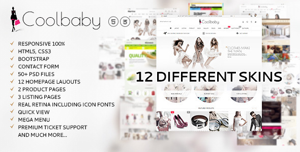 Coolbaby Fashion eCommerce HTML theme