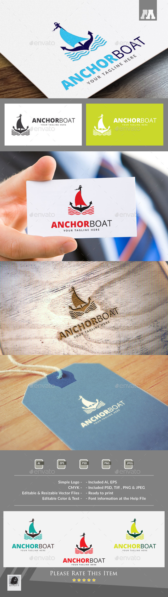 Anchor Boat Logo Template - Symbols Logo Templates