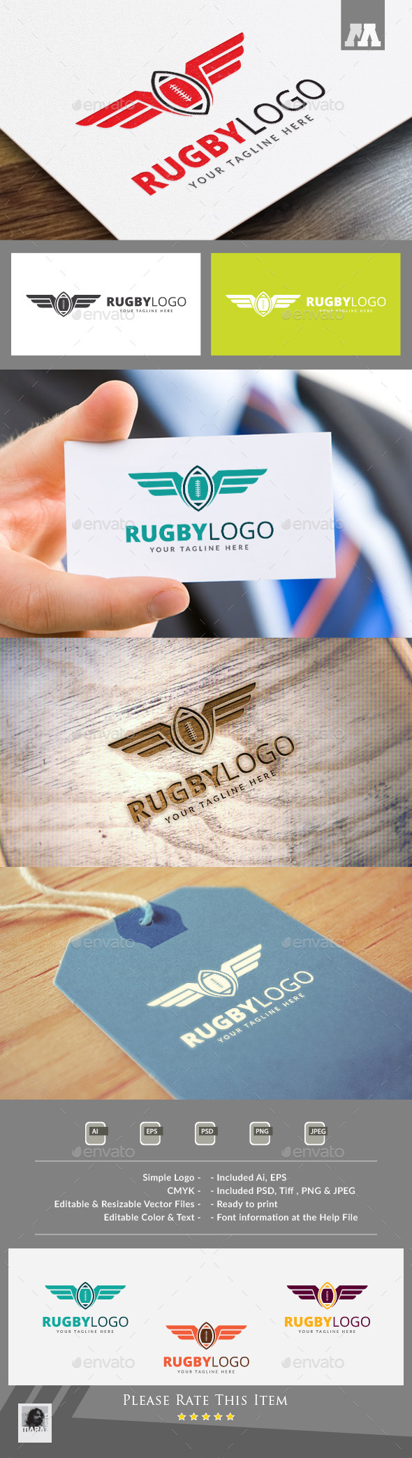 Rugby Logo Template - Symbols Logo Templates