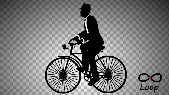 Man Ride Bicycle