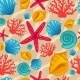 Seamless Pattern with Seashell - GraphicRiver Item for Sale