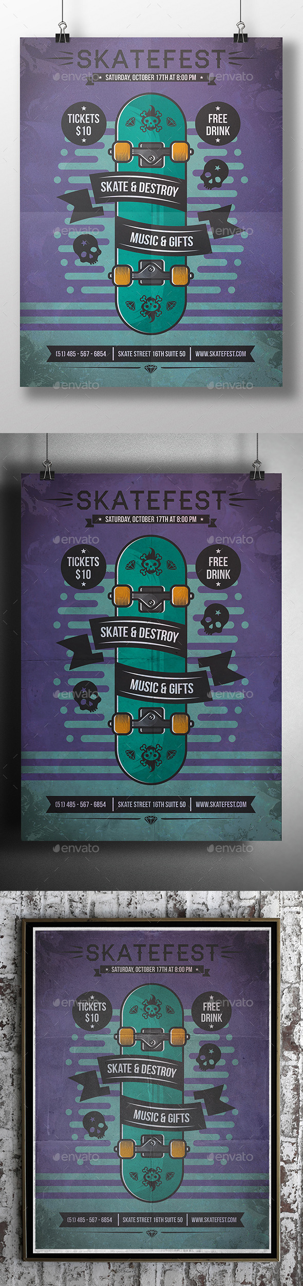 Skate Poster Flyer Event - Sports Events