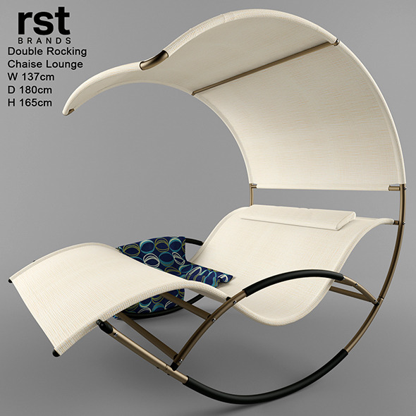 Double rocking chaise lounge by dizzona 3docean for Bella flora double chaise lounge