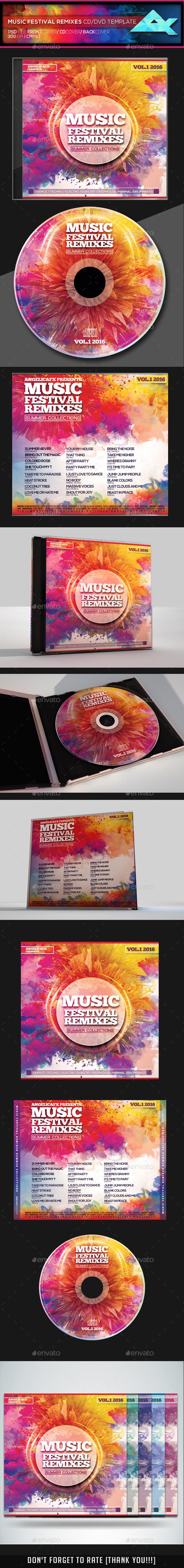Music Festival Remixes CD Design Template