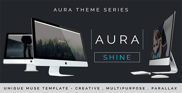 Aura Shine – A Unique Muse Template With Parallax