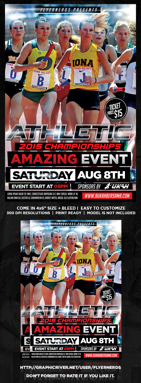 Athletic Runner Sports Flyer - Sports Events