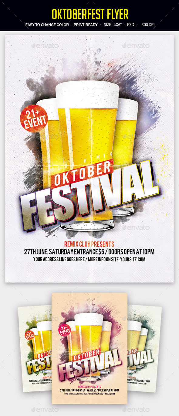 Oktoberfest Flyer - Clubs & Parties Events