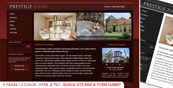 Prestige  Realestate - HTML - Corporate Site Templates
