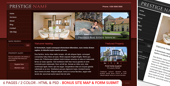 Free Download Prestige Realestate - HTML Nulled Latest Version