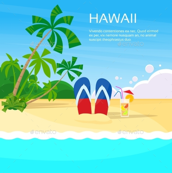 Summer Beach Flip-flops Sand Hawaii Card Tropical - Landscapes Nature