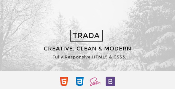 Trada - Creative Agency Multipurpose Template - Creative Site Templates