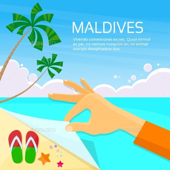 Maldives Tropical Island Summer Vacation Paradise - Travel Conceptual