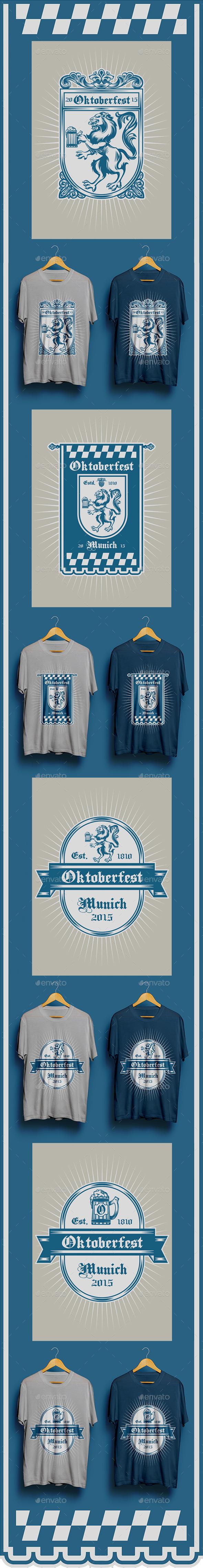 4 Oktoberfest T-shirt Designs - Events T-Shirts