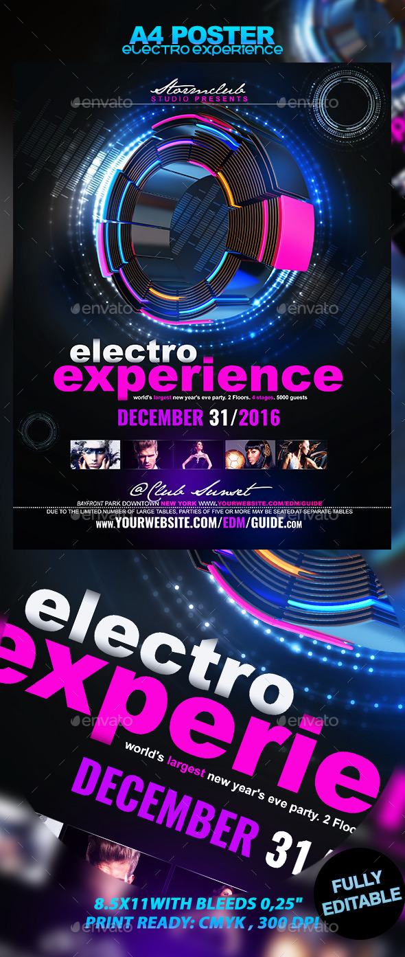 Electro Experience - Events Flyers
